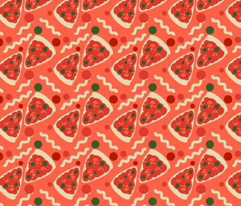 Pizza & Pasta fabric by eppiepeppercorn on Spoonflower - custom fabric