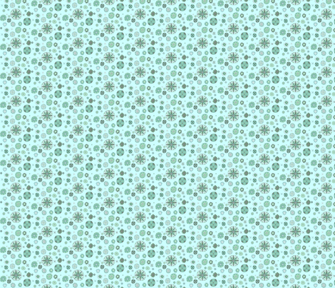 chinesemedallion_aqua fabric by tractorgirl on Spoonflower - custom fabric