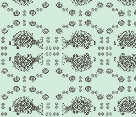 car(p) in aqua fabric by ndesigns on Spoonflower - custom fabric
