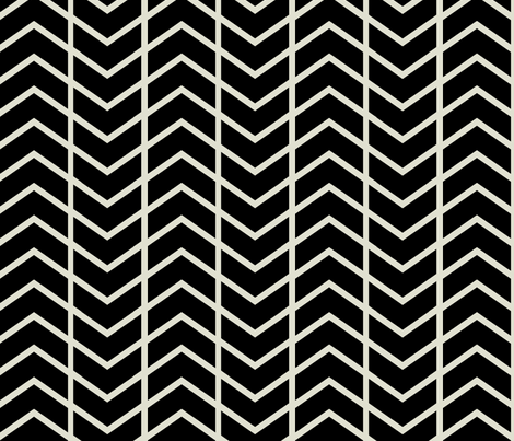 chevron stripe black and champagne fabric by ninaribena on Spoonflower - custom fabric