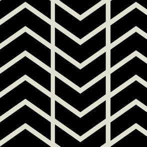 chevron stripe black and champagne