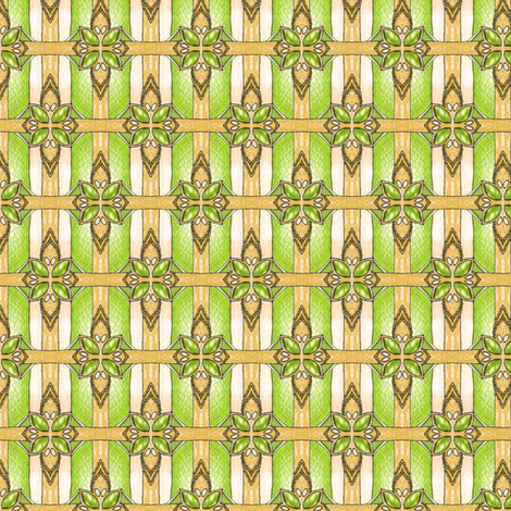 Beheiban's Emerald Weave fabric by siya on Spoonflower - custom fabric