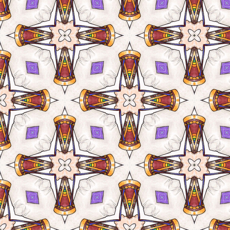Cayni's Drum Star fabric by siya on Spoonflower - custom fabric