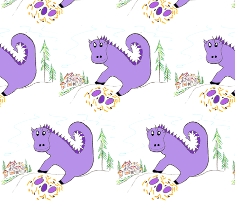 DragonPurple fabric by scoutmom131 on Spoonflower - custom fabric