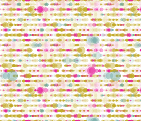 mustard pink bubble rain fabric by sol on Spoonflower - custom fabric