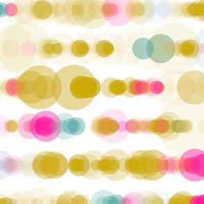 mustard pink bubble rain