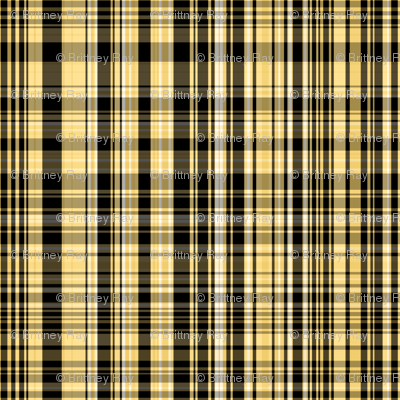 Yellow & Black Plaid