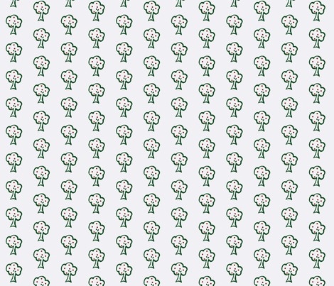 Small Trees with Apples fabric by pumpkintreelane on Spoonflower - custom fabric