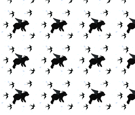 Flying bear fabric by gurumania on Spoonflower - custom fabric
