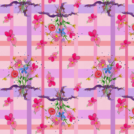 Posie Bouquet Plaid fabric by countrygarden on Spoonflower - custom fabric