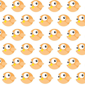 Round Orange Birdies