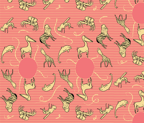 Mixed Animals fabric by plastessina on Spoonflower - custom fabric