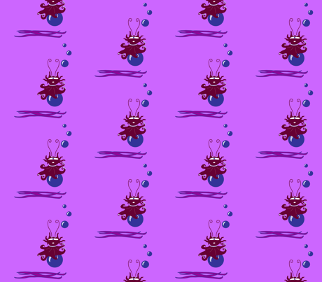 MARINE CUTE VIOLET fabric by galé on Spoonflower - custom fabric