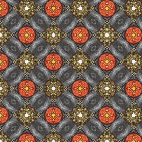 Tahijra's Sunspot Brooch fabric by siya on Spoonflower - custom fabric