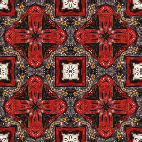 Maya's Enamel Cross fabric by siya on Spoonflower - custom fabric