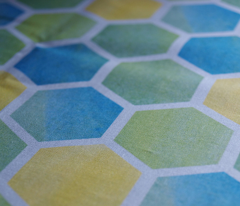 Watercolor Honeycomb
