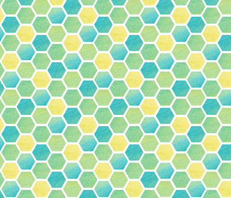 Watercolor Honeycomb fabric by wildnotions on Spoonflower - custom fabric