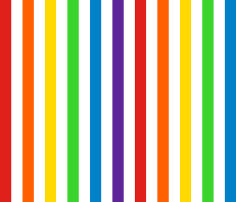 Vertical Rainbow and White Stripes fabric by elsielevelsup on Spoonflower - custom fabric