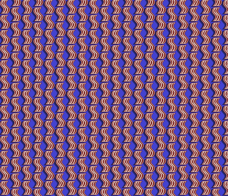 Bacon - Red on Blue fabric by elsielevelsup on Spoonflower - custom fabric