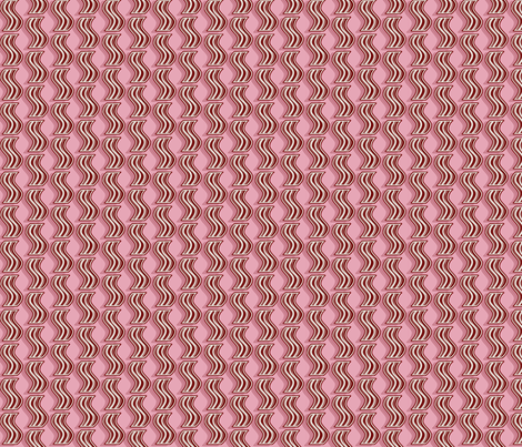 Bacon - Red on Pink fabric by elsielevelsup on Spoonflower - custom fabric