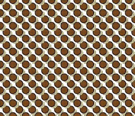 Pop Art Cookies - Diagonal Cookie Stripe fabric by elsielevelsup on Spoonflower - custom fabric
