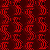 Bacon - Red on Dark Red
