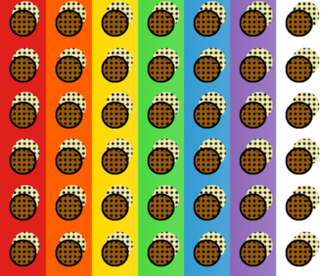 Rainbow Pop Art Cookies fabric by elsielevelsup on Spoonflower - custom fabric