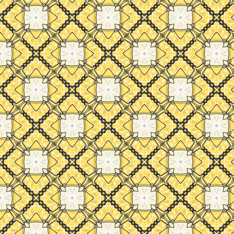 Lemony Tiles fabric by siya on Spoonflower - custom fabric