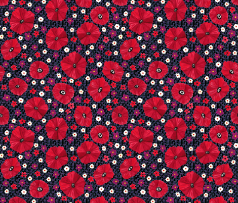 Poppy Print fabric by kezia on Spoonflower - custom fabric