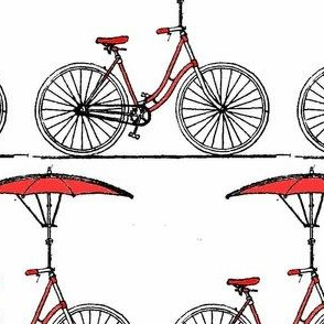 Vintage Bike with Umbrella