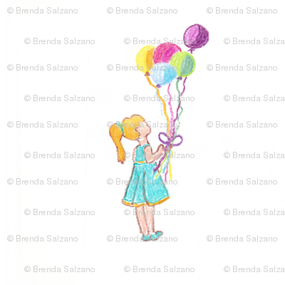 My daughter with Balloons