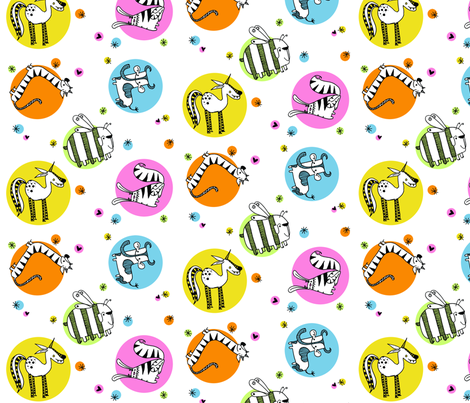 Wacky zoo fabric by carmenland on Spoonflower - custom fabric