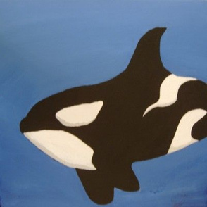 Orca Whale painting