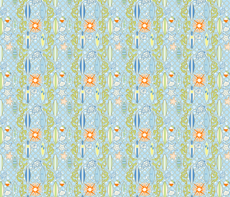 Pacific_Surf fabric by flyingtreestudios on Spoonflower - custom fabric
