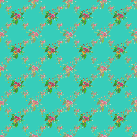 Rose Trellis fabric by joanmclemore on Spoonflower - custom fabric