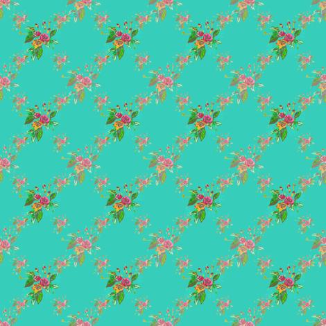 Rose Trellis fabric by joanmclemore on Spoonflower - custom fabric