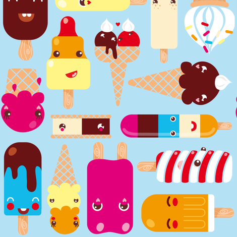 Ice Cream fabric by verycherry on Spoonflower - custom fabric