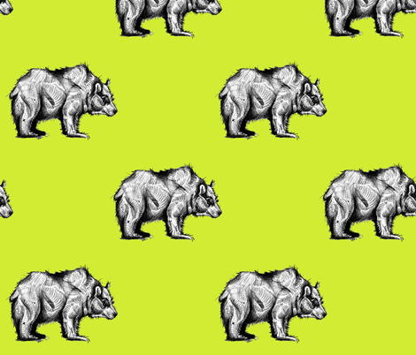 Bear fabric by taraput on Spoonflower - custom fabric