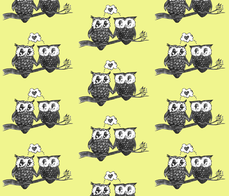 Owl Love You Forever fabric by taraput on Spoonflower - custom fabric