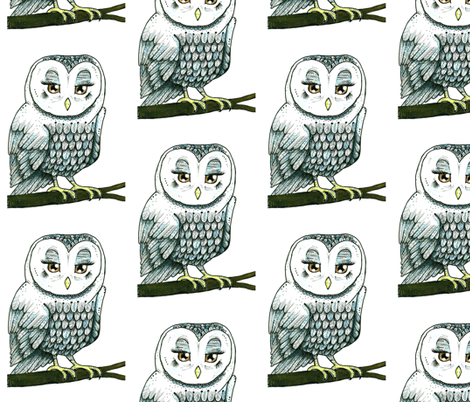 Snowy Owl fabric by taraput on Spoonflower - custom fabric