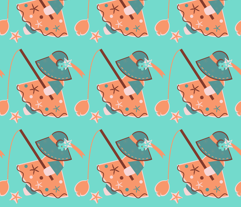 Calmaria Fishing fabric by eppiepeppercorn on Spoonflower - custom fabric