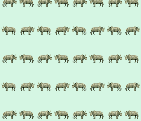 Rhinos! fabric by taraput on Spoonflower - custom fabric