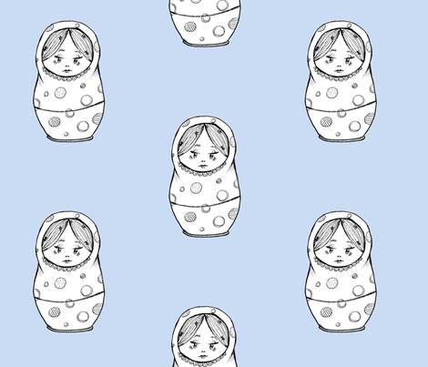 Nesting Doll 2 fabric by taraput on Spoonflower - custom fabric