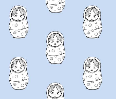 Nesting Doll 2 fabric by taraput on Spoonflower - custom fabric