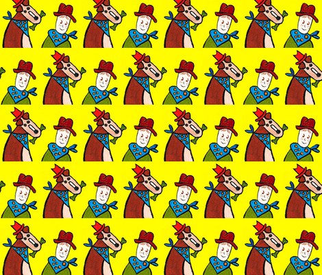 Outlaw And Cody fabric by christl_k_ on Spoonflower - custom fabric
