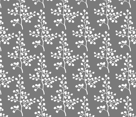 Grey Branch fabric by christiem on Spoonflower - custom fabric