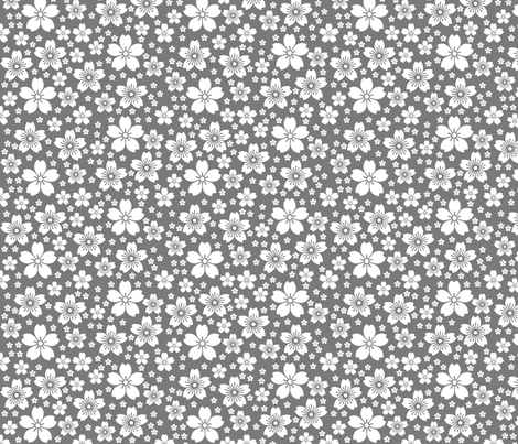 Grey Ditsy fabric by christiem on Spoonflower - custom fabric