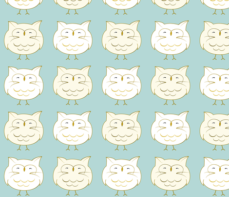 meowl fabric by nadiahassan on Spoonflower - custom fabric