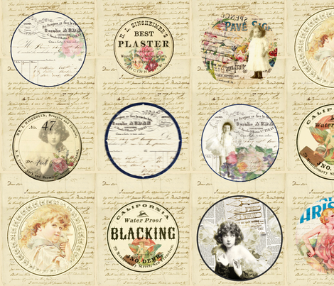 Pincushion Cutouts fabric by peagreengirl on Spoonflower - custom fabric