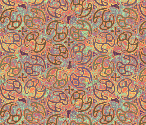 ©2011 Bird Motif - Desert fabric by glimmericks on Spoonflower - custom fabric
